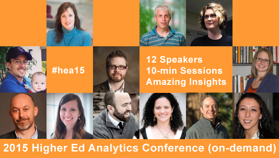 Higher Ed Analytics Conference 2015