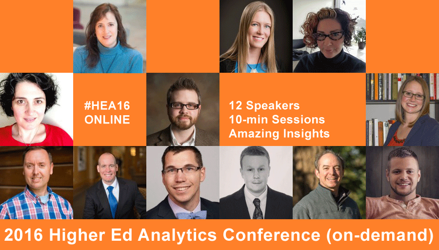 Higher Ed Analytics Conference 2016