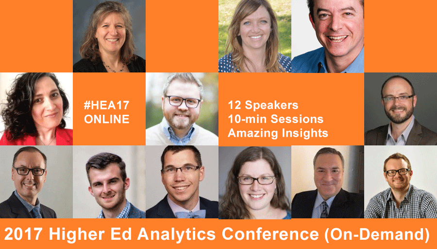 2017 Higher Ed Analytics Conference - on demand