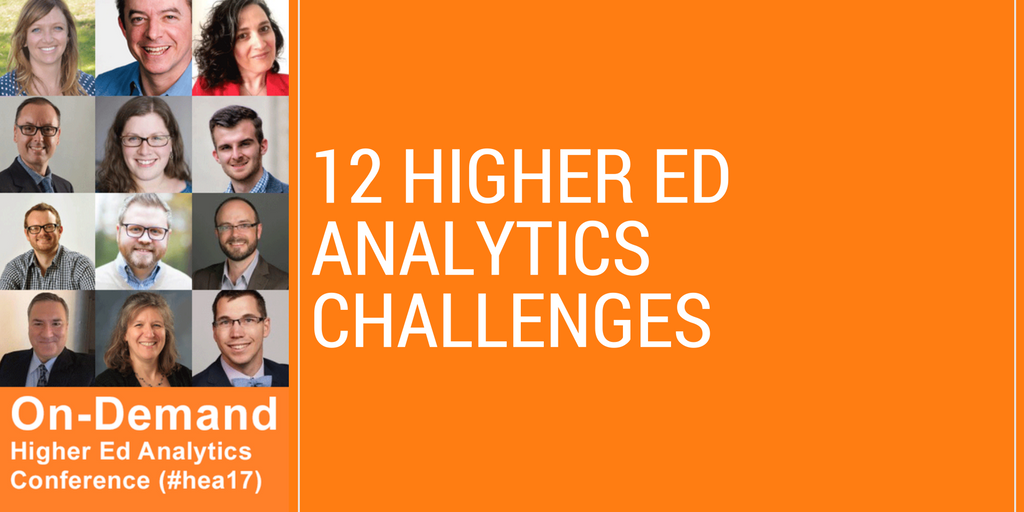 12 Higher Ed Analytics Challenges