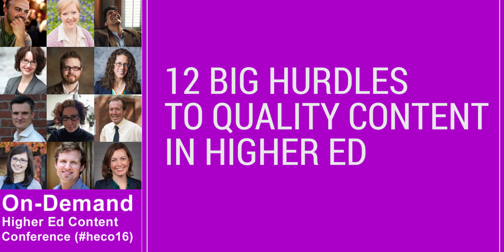 Higher Ed Content Hurdles