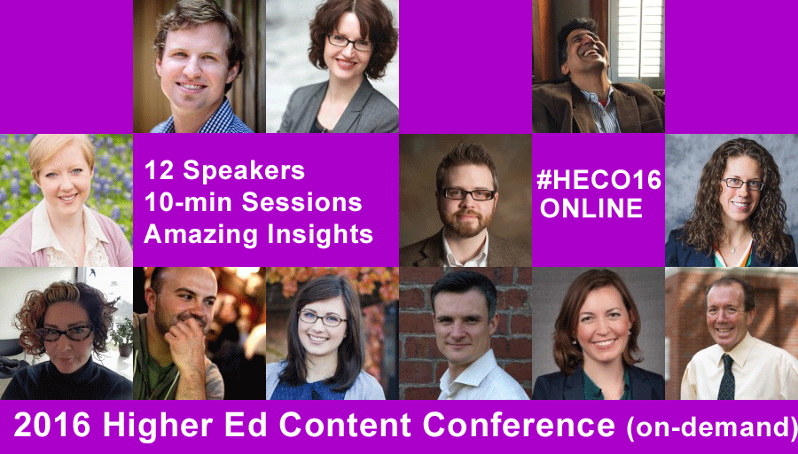 2016 Higher Ed Content Conference
