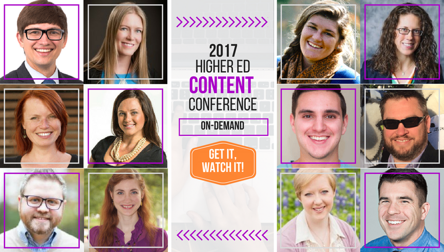 Attend to the 2017 Higher Ed Content Conference