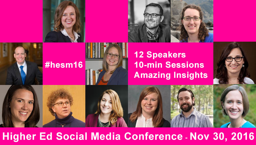 2016 Higher Ed Social Media Conference