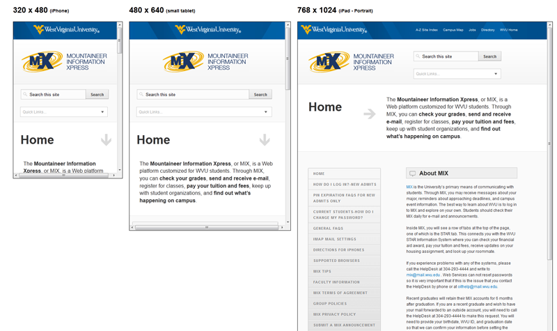 WVU FAQ Website