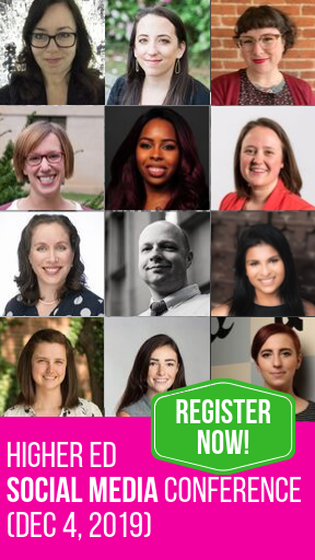 Register for the Higher Ed Social Media Conference