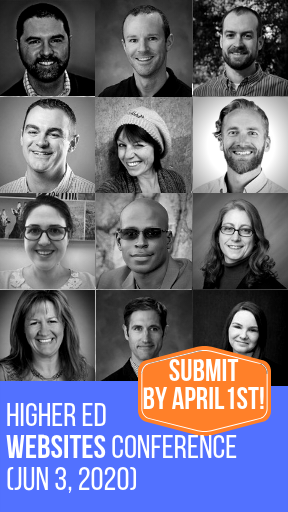 Submit a proposal or register for the Higher Ed WEBSITES Conference